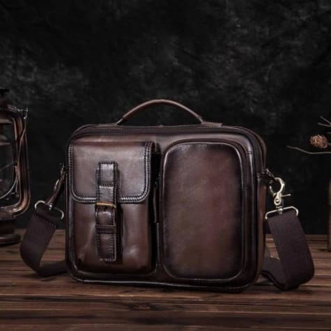 New Contemporary Learher Messenger & Crossbody Bag Premium Leather