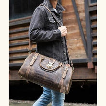 Load image into Gallery viewer, New Crazy Horse Leather Large Travel Bag/duffle Premium Leather