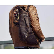 Load image into Gallery viewer, New Large Leather Sling & Shoulder Backpack Dark Brown Premium Leather