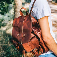 Load image into Gallery viewer, Nomad Authentic Leather City and Cross Country Backpack/travel Bag Premium Leather