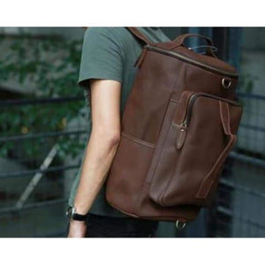 Nomad Crazy Horse Leather Multifunctional Travel Backpack Premium Leather