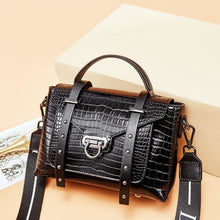 Load image into Gallery viewer, Nouvelle Mode Women's Leather Hand/shoulder/crossbody Bag Black Premium Leather