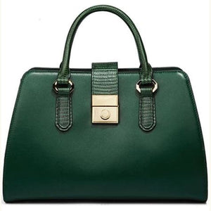 Nova Green Napa Leather Hand and Wrist Bag Premium Leather