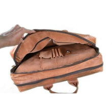Load image into Gallery viewer, Novel Goat Leather Messenger/laptop & Travel Bag Premium Leather