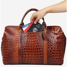 Load image into Gallery viewer, Opulant Full Leather W/ Pattern Handbag & Crossbody Bag