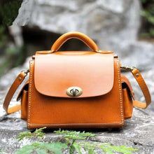 Load image into Gallery viewer, Opulant Leather Fashion Women's Crossbody Satchel & Handbag Light Brown Premium Leather