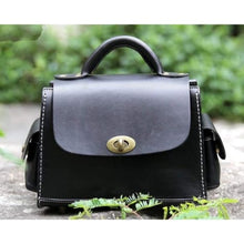 Load image into Gallery viewer, Opulant Leather Fashion Women's Crossbody Satchel & Handbag Black Premium Leather