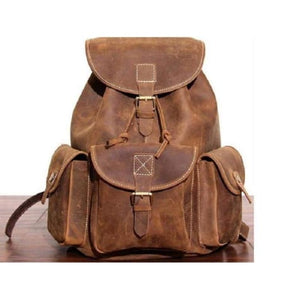 Outstanding Brown Leather Hiking Backpack Premium Leather