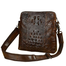 Load image into Gallery viewer, Patterned Vintage Leather Cross Body Messenger Bag Premium Leather