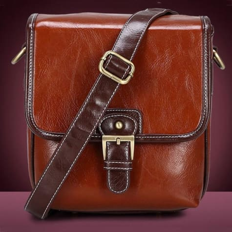 Photography Retro Leather Camera Bag Premium Leather