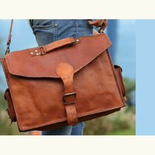 Load image into Gallery viewer, Premium Leather Messenger/shoulder Bag Leather