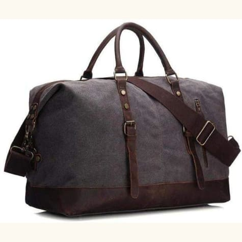Premium Waxed Canvas/leather Travel Bag