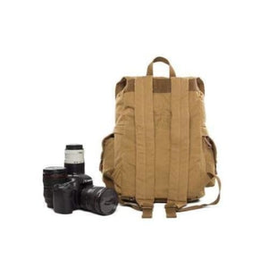 Professional Waxed Canvas Dslr Camera Bag & Backpack