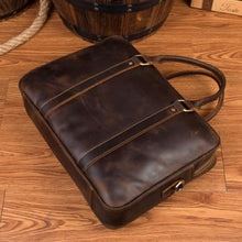 Load image into Gallery viewer, Pukka Crazy Horse Leather Laptop/messenger Bag Premium Leather
