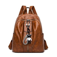 Load image into Gallery viewer, Pure Authentic Leather Backpack Travel Pack Rucksack Brown Premium Leather