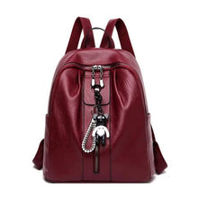 Load image into Gallery viewer, Pure Authentic Leather Backpack Travel Pack Rucksack Premium Leather