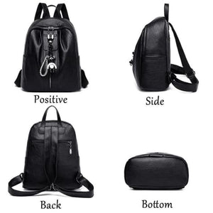 Pure Authentic Leather Backpack Travel Pack Rucksack Premium Leather