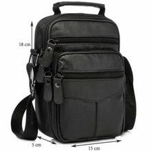 Load image into Gallery viewer, Rococo Leather Backpack/messenger & Shoulder Bag Black-small Size Premium Leather