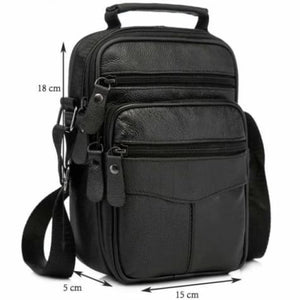 Rococo Leather Backpack/messenger & Shoulder Bag Black-small Size Premium Leather