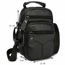 Load image into Gallery viewer, Rococo Leather Backpack/messenger & Shoulder Bag Black-big Size Premium Leather
