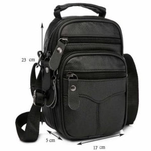 Rococo Leather Backpack/messenger & Shoulder Bag Black-big Size Premium Leather