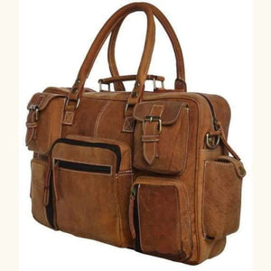 Saddle Leather Gentlemens Briefcase/messenger Bag