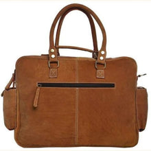 Load image into Gallery viewer, Saddle Leather Gentlemens Briefcase/messenger Bag