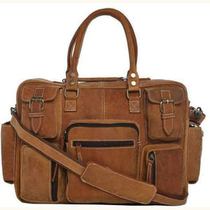 Saddle Leather Gentlemen's Briefcase/messenger Bag Premium Leather