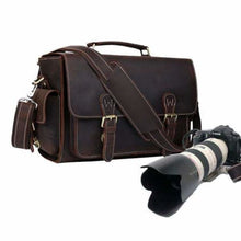 Load image into Gallery viewer, Saddle Leather Messenger/dslr Camera Bag Premium Leather