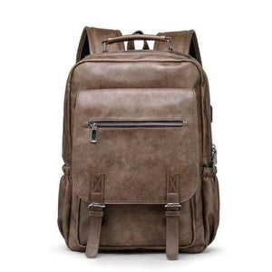 Sales Person's True Leather Business & Travel/laptop Backpack 7220-01 Brown Premium Leather