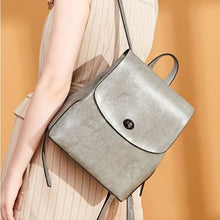 Load image into Gallery viewer, Shades of Grey Authentic Leather Crossbody Backpack