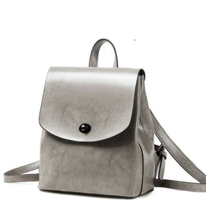 Shades of Grey Authentic Leather Crossbody Backpack
