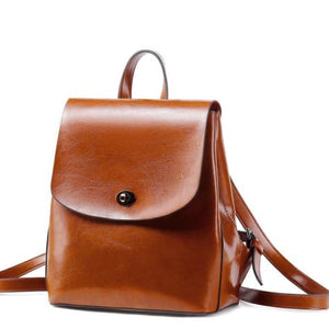 Shades of Grey Authentic Leather Crossbody Backpack Brown