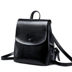 Shades of Grey Authentic Leather Crossbody Backpack Black