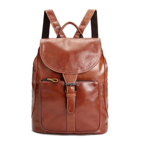 Sienna Oil Waxed Leather Shoulder Bag Backpack Premium Leather
