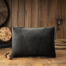 Load image into Gallery viewer, Silky Leather Envelope Clutch/wrist Bag Premium Leather