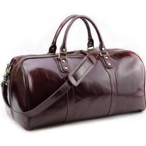 Sleek Fashion Leather Hold All/gym & Weekend Duffle Premium Leather