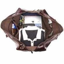 Load image into Gallery viewer, Sleek Fashion Leather Hold All/gym & Weekend Duffle Premium Leather