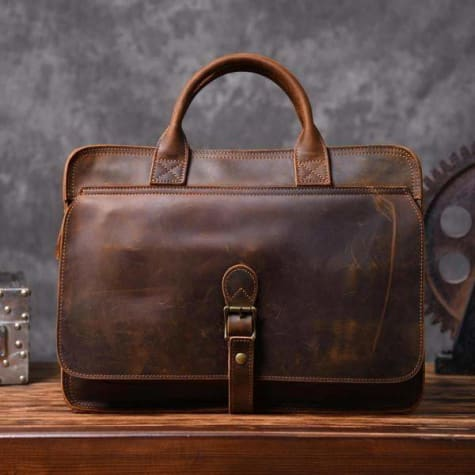 Sleek Leather Briefcase & Messenger Bag/laptop Bag