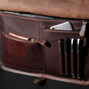 Sleek Leather Briefcase & Messenger Bag/laptop Bag Premium Leather