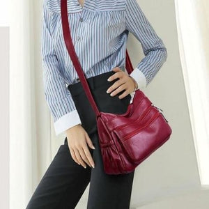Soft Sheepskin Leather Luxury Handbag Premium Leather