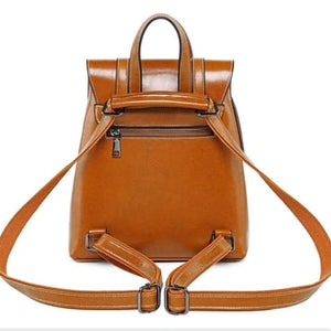 Steer Hide Leather Oil Waxed Crossbody Backpack & Shoulder Bag Premium Leather