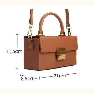 Sterling Leather Box Handbag Doctor Bag, Premium Leather