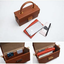 Load image into Gallery viewer, Sterling Leather Box Handbag Doctor Bag, Premium Leather