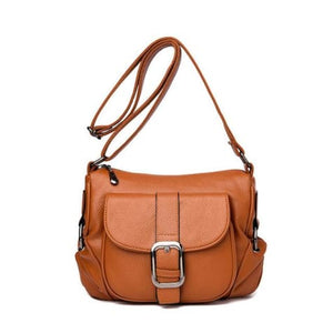 Summer Leather Luxury Women's Handbag Brown Premium Leather