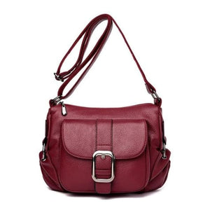 Summer Leather Luxury Women's Handbag Red Premium Leather