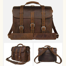 Load image into Gallery viewer, Thick Crazy Horse Leather Briefcase/messenger Bag Premium Leather