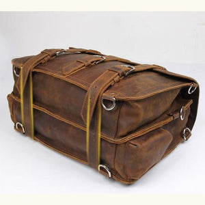 Thick Crazy Horse Leather Briefcase/messenger Bag Premium Leather