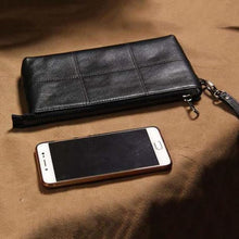 Load image into Gallery viewer, Timeless Leather Clutch/wrist Bag & Wallet Premium Leather