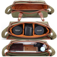 Load image into Gallery viewer, Toile Camera Bag Dslr Messenger Premium Leather